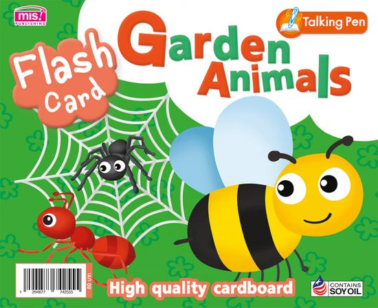 Flash Card - Garden Animals