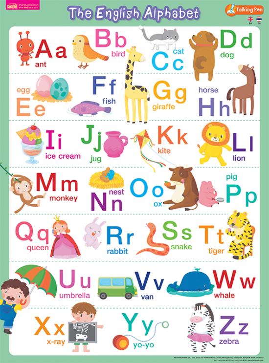 โปสเตอร์พลาสติก - The English Alphabet