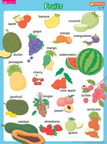 โปสเตอร์พลาสติก - Fruits
